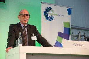 "Frank Wiemer (Rewe) is pushing ""Trade 4.0"" - ©Kai Bublitz/BVL Tel.: +49171/5446015<br /> e-mail: info@kaibublitz.de<br /> Internet: www.kaibublitz.de<br /> Deutsche Bank AG<br /> BLZ.:200 700 24<br /> Konto Nr.:5249198"