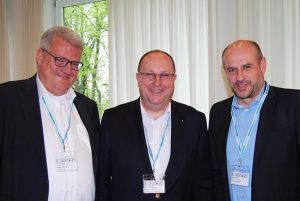The hosts (from left): Markus Quicken (SupplyOn), Thomas Wimmer (BVL) and Thomas Holzner (Siemens)