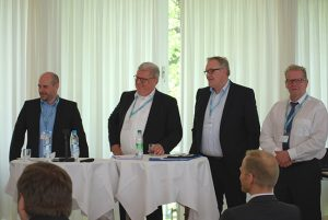 Answered the numerous questions at the panel discussion (from left): Andreas Holzner, Markus Quicken, André Truszkowski-Jonas and Wolfgang Böhme