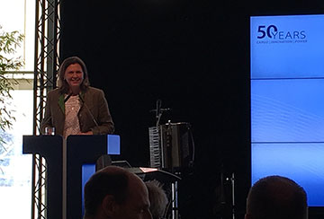Deputy Bavarian Minister-President Ilse Aigner joined the celebration ceremony