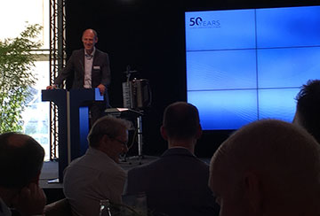 Dr. Klaus Richter of Airbus congratulated on the 50th anniversary