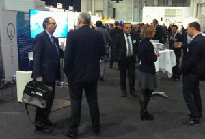 Networking in the exhibition with good resonance also at the SupplyOn booth
