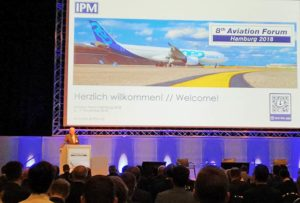 Professor Dr Johannes Walther IPM opens the 8th Aviation Forum in Hamburg