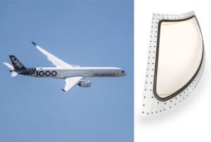 According to GKN, the company ist the world's leading multi-technology tier 1 aerospace supplier (pictures: Airbus A350-1000, hydrophobic coating © GKN Aerospace)