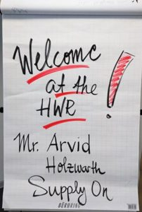A nice & warm welcome. Thank you, HWR!