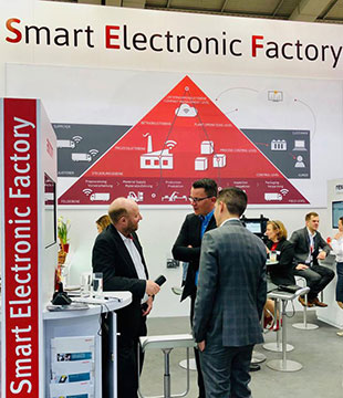 SupplyOn jointly exhibited with its partners Bosch Rexroth, IoTOS and Limtronik at the booth of the Smart Electronic Factory initiative