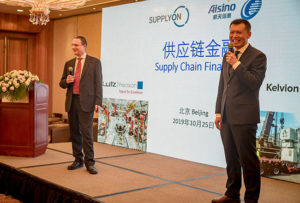 James Greener (Kelvion, left) and Zhao Jiaxian (Lutz, right) on Supply Chain Finance