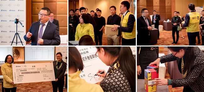Live demonstration of the Golden Tax Process conducted by Xia Jiakun (SupplyOn, top left) and Cui Yankuan (Aisino, top centre).